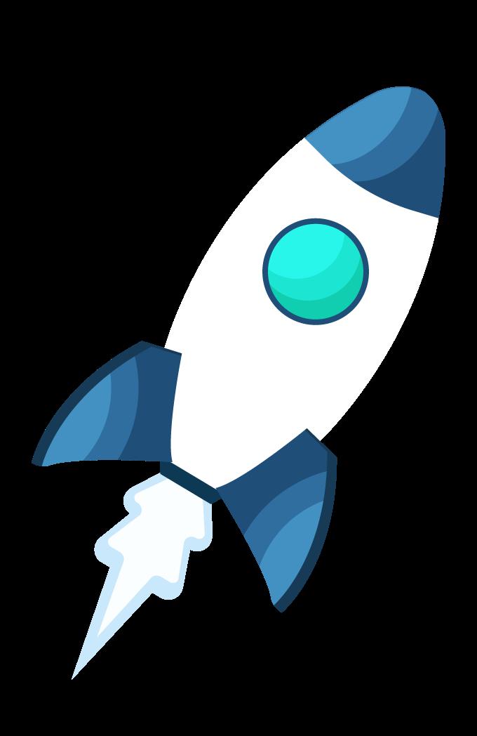 fusée bleue décollage
